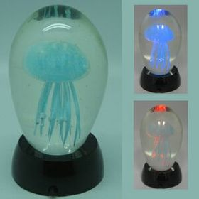 Light-up Jelly Fish in Glass Rock (Screen printed), Price/piece