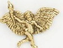 Custom Running Angel W/ Torch Stock Cast Pin