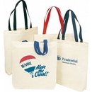 Custom 9 Oz. Cotton Canvas Shopping Tote Bag with 22