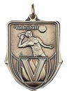 Custom 100 Series Stock Medal (Female Volleyball Player) Gold, Silver, Bronze