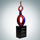Custom Art Glass Twist Award, 12