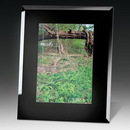 Custom Black Glass Photo Frame, 8