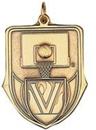Custom 100 Series Stock Medal (Basketball) Gold, Silver, Bronze