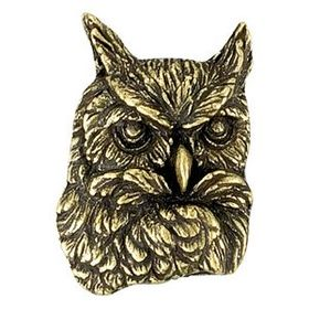 Owl Mascot Fully Modeled 3 Dimensional Pin, Price/piece