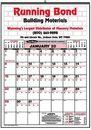 Custom Bid Master Commercial Wall Calendar - 3 Color Ad Copy (22