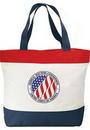 Custom Poly Zipper Tote Bag (20