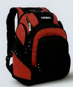"Ogio 450D Poly/400D Pindot Nylon Mastermind Backpack, 19"" H X 14"" W X 10"" D, Price/piece"