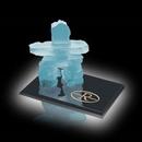 Custom Frosted Inukshuk Sculpture on Ebony Base (4 1/2