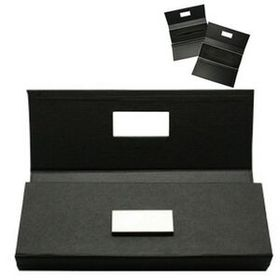 Tri-fold single pen box with mental name plate(Screen printed), Price/piece
