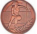Custom 500 Series Stock Medal(Female Basketball Player) Gold, Silver, Bronze