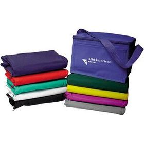 "AdVantage Line Poly/Vinyl Fabric 6-Pack Cooler, 9"" W X 6"" H X 6"" D, Price/piece"
