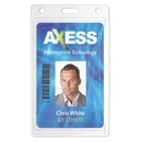 Custom Economy Clear Rigid Plastic Vertical Badge Holder, 2.125