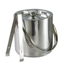 Custom Lines Double Wall Ice Bucket w/ Tongs