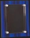 Custom Blue Elegance Acrylic Floating Plaque S, 8