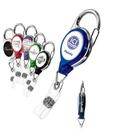 Custom Retract-A-Badge Carabiner Badge Holder