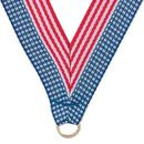 Custom Stars & Stripes Grosgrain Imported V Neck Ribbon - Medal Holder (30