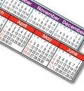 Custom Color Stick-A-Strip Year in View Calendar - Thru 05/31/12