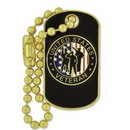 Custom Veteran Dog Tag Pin, 1 1/8