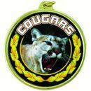 Custom TM Medal Series w/ Cougars Scholastic Mascot Mylar Insert