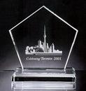 Custom Strategem Pentagon Award - Starfire Glass (8 3/8