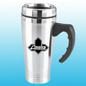 16 Oz Stainless Steel Mug W/ Plastic Liner (Screen Printed), Price/piece