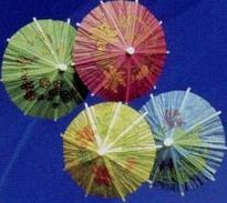 Assorted Cocktail Parasols, Price/144pcs