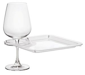 Square Party Plate with Built In Stemware Holder, Price/piece