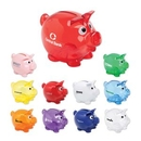 Custom Small Piggy Bank - Translucent Red, 4