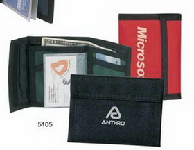 420 Nylon Bi-fold Wallet W/ Credit Card Holder, Price/piece
