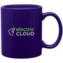 Custom 11 oz. Glossy C-Handle Mug, Screen Printed - Colors