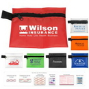 Custom On the Go First Aid Kit #1 w/ Ointment, Ibuprofen & Polyester Pouch