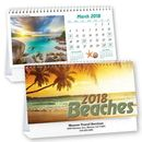 Custom Beaches Standard Desk Calendar, 6.25