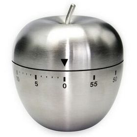 60 Minute Stainless Steel Apple timer in Gift Box (Screen printed), Price/piece