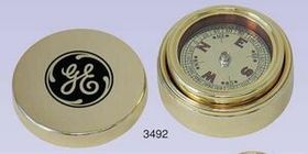 Gold Plated Brass Navigator Compass & Brass Case (Screened), Price/piece