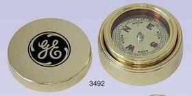 Gold Plated Brass Navigator Compass & Brass Case (Screened), Price/piece