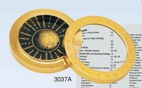 """2-in-1 World Time Table w/ Magnifier (2 5/8""""x5/8"""") (Screened), Price/piece"""