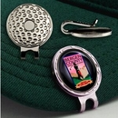 Golf Hat Clip w/Custom Ball Marker (7/8