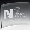 Custom Laser Engraved Curved in Stand Up Award (8