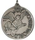 Custom Joy To The World Ornament/ Medallion (Angel) Brass or Nickel-Silver