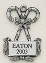Custom MasterCast Design Candy Canes Cast Ornament