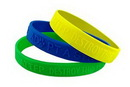 Custom Embossed Silicone Wristband (1/2