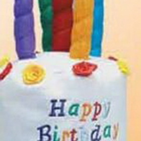 Felt Happy Birthday Cake Novelty Hat, Price/piece