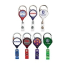 Custom Carabiner Retractable Badge Reel W/ Belt Clip - Translucent (Polydome), 1.38