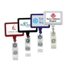 Custom Anti-Microbial Rectangle Badge Reel (Label Only), 1.75