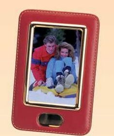 "7""x4-5/8"" Leather & Brass Rectangle Photo Frame (Screened), Price/piece"