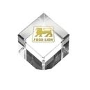 Custom Crystal Cube Paperweight Award Trophy, 2 1/4