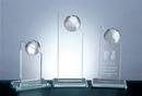 Custom World Globe Pinnacle Award - Jade Glass (6 1/2