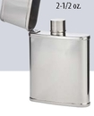 Custom 2 1/2 Oz. Flip Top Mini Pocket Flask, 4 1/4