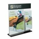 Custom Acrylic Counter Frame with Brochure Pocket & 2
