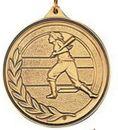 Custom 500 Series Stock Medal (Female Softball Player) Gold, Silver, Bronze